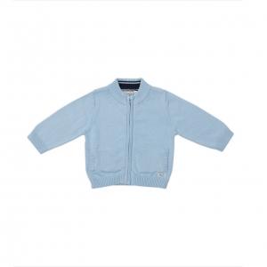 Jacheta tricot baieti Babybol bleu