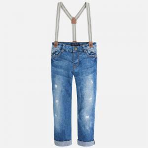 Jeans cu bretele Mayoral 3517