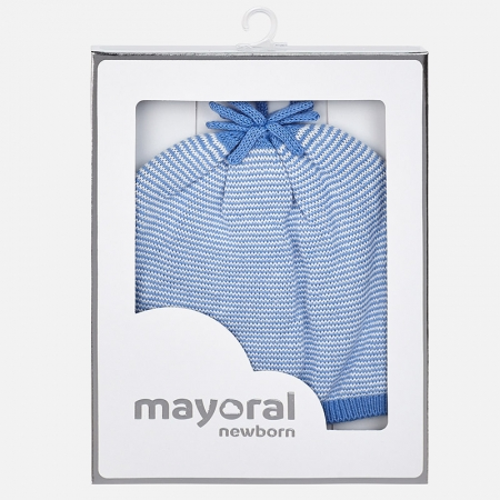 Mayoral - Caciula bebe baiat tricot, culoare blue2