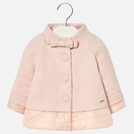 Mayoral - Palton elegant matlasat fete, roz