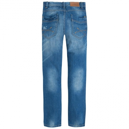 Pantalon jeans baiat, aspect uzat, Mayoral1