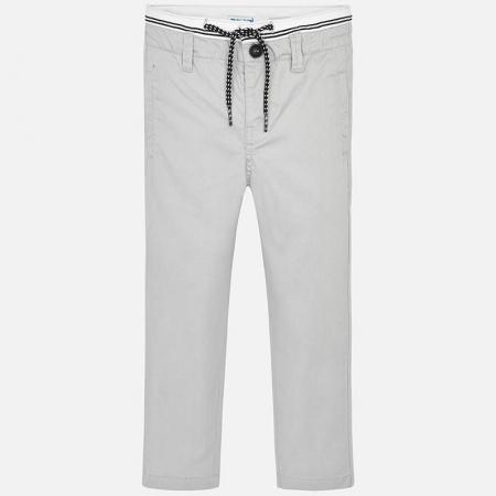 Pantalon lung baiat chino slim fit gri Mayoral1