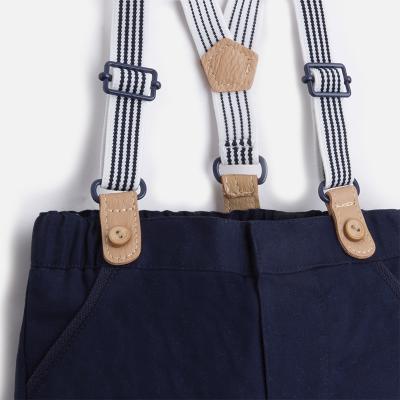 Pantaloni baieti cu bretele navy Mayoral