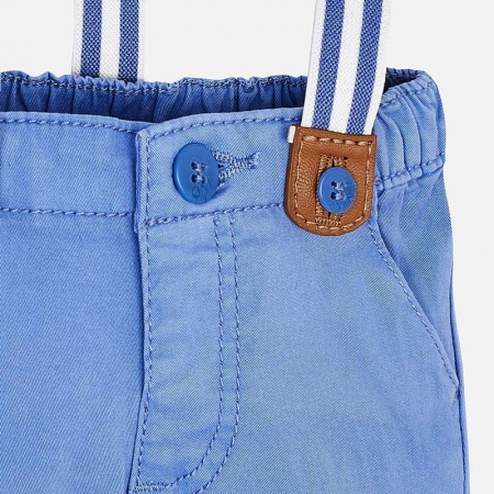 Pantaloni bebe baiat cu bretele, azur, Mayoral2