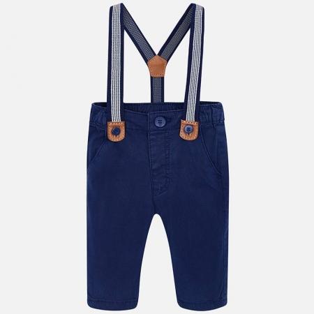 Pantaloni bebe cu bretele, navy, Mayoral