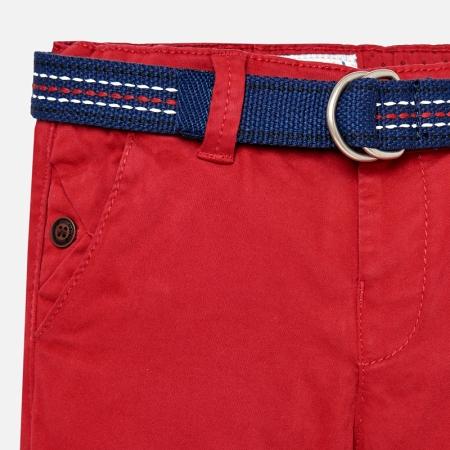 Pantaloni cu curea baiat , Mayoral, culoare rosie