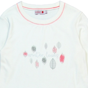 Pijama fete bumbac imprimeu frunze Boboli