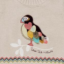 Pulover fetite cu papagal Boboli