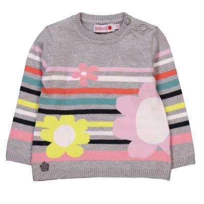 Pulover tricot cu flori Boboli