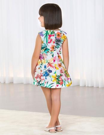 Rochie eleganta fete , imprimeu floral, Abel&Lula