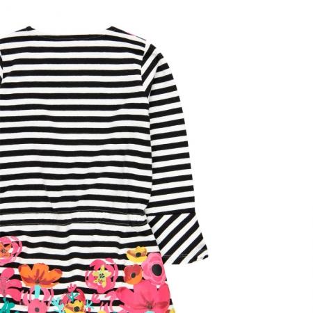 Rochie fete cu dungi si imprimeu floral Boboli3