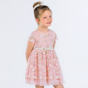 Rochie Mayoral tulle roz brodat