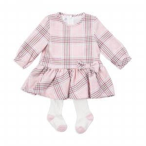 Rochie stofa cu dres , Babybol, roz