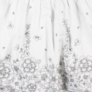 Rochita eleganta saten cu flori gri Boboli