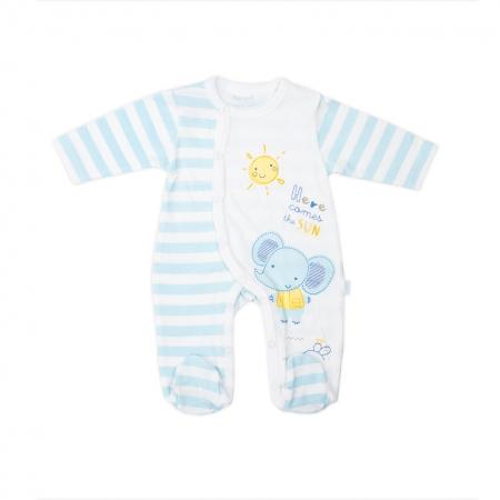 Salopeta bumbac bebe Babybol blue