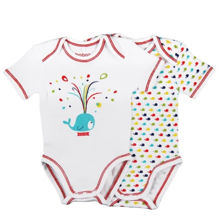 Set 2 body maneca scurta bebe Boboli,