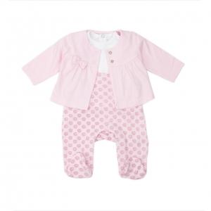Set 3 piese bebe roz Babybol Barcelona