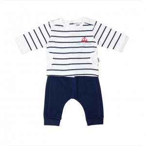 Set bebe tricou+pantalon Babybol navy