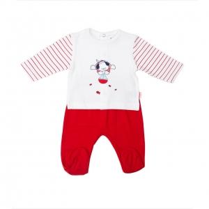 Set bebe tricou+pantalonas Babybol rosu