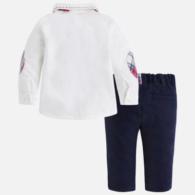 Set camasa cu papion si pantaloni navy Mayoral