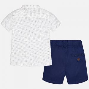 Set camasa si pantalon scurt navy Mayoral