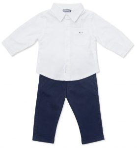Set elegant baieti camasa alba si pantaloni , Babybol Barcelona