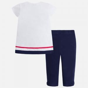 Set tricou si colanta fetita Mayoral navy