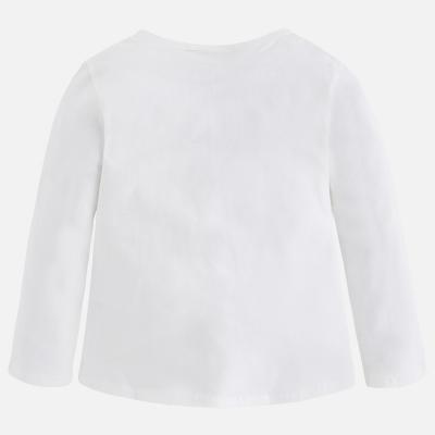 Tricou alb cu imprimeu bufntia Mayoral