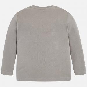 tricou gri maneca lunga