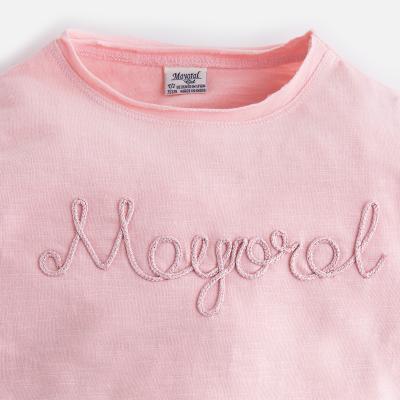 Tricou maneca lunga fetite roz Mayoral