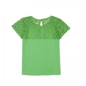 Tricou maneca scurta cu broderie Boboli verde