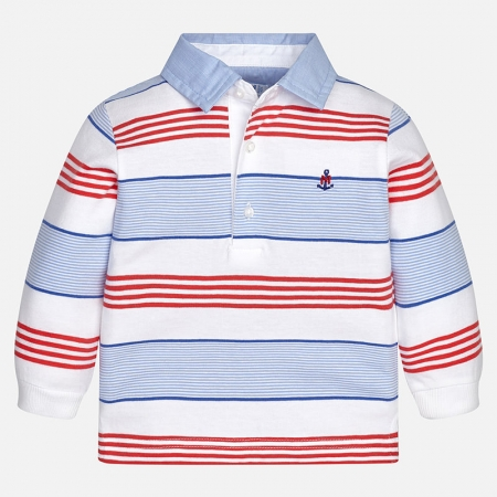 Tricou polo maneca lunga , baiat, Mayoral