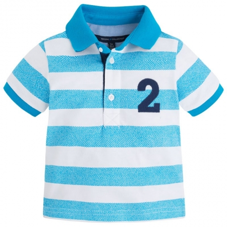 Tricou polo maneca scurta bebe Mayoral