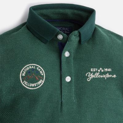 Tricou polo verde baiat Mayoral2