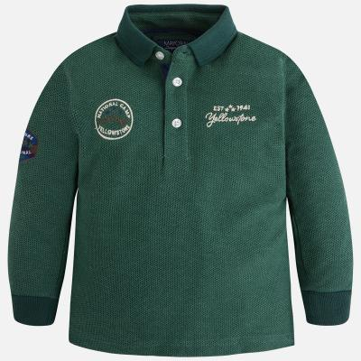 Tricou polo verde baiat Mayoral