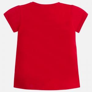 Tricou vara rosu cu fetita Mayoral