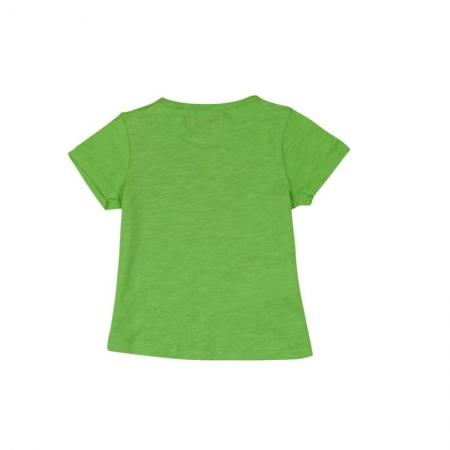Tricou verde fetite cu imprimeu, Boboli