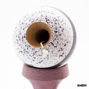 KENDAMA SWEETS PRIME CUSTOM V10-SPLATTER RAPTOR-PURPLE HEART-CUSHION CLEAR