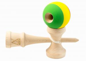 KENDAMA KROM RASTA MAPLE1
