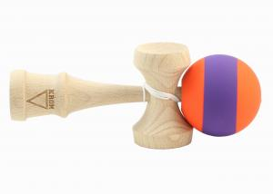 KENDAMA KROM RUBBER STRIPES ORANGE & PURPLE