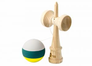 KENDAMA USA KAIZEN 2.0 - TRIP SPLIT - ASH - GREY GREEN YELLOW3