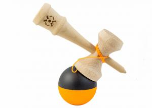 KENDAMA USA TRIBUTE HALF SPLIT NEON ORANGE AND BLACK