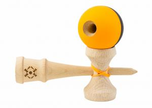 KENDAMA USA TRIBUTE HALF SPLIT NEON ORANGE AND BLACK3