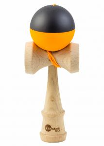 KENDAMA USA TRIBUTE HALF SPLIT NEON ORANGE AND BLACK0
