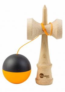 KENDAMA USA TRIBUTE HALF SPLIT NEON ORANGE AND BLACK1