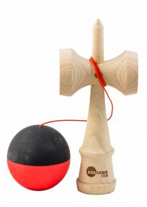 KENDAMA USA TRIBUTE HALF SPLIT RED AND BLACK