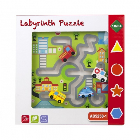 Puzzle lemn labirint auto1