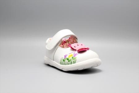 Pantofi alb ivoire cu bareta Happy Bee 19-24EU fluturas2