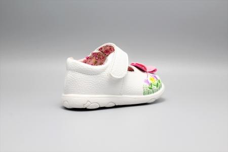 Pantofi alb ivoire cu bareta Happy Bee 19-24EU fluturas3