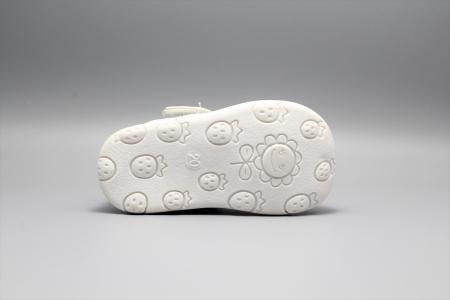 Pantofi alb ivoire cu bareta Happy Bee 19-24EU fluturas6